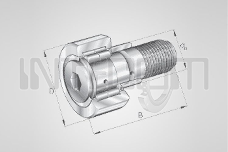 Cam followers with cylindrical rolls, cage and eccentric bush - NUKRE Series